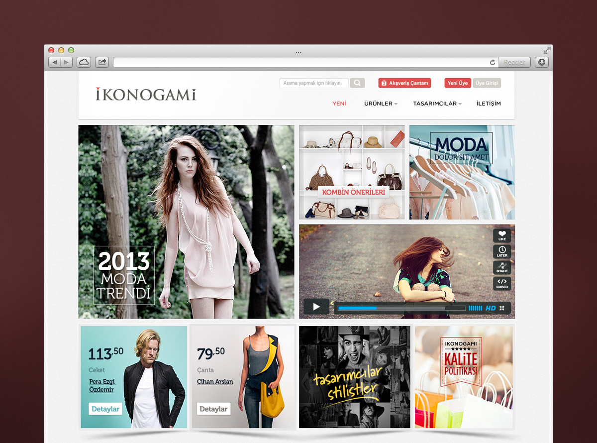E-Commerce Web Design for Retailer