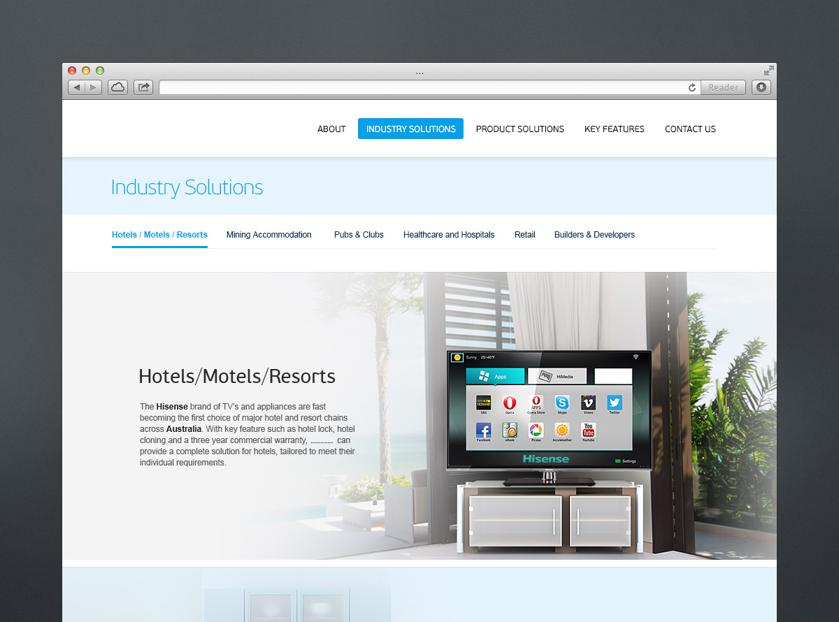 Corporate Web Site Design for Retailer