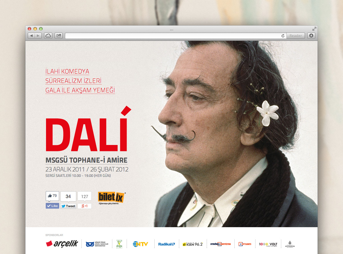 Digital Marketing for Salvador Dali Exhibition