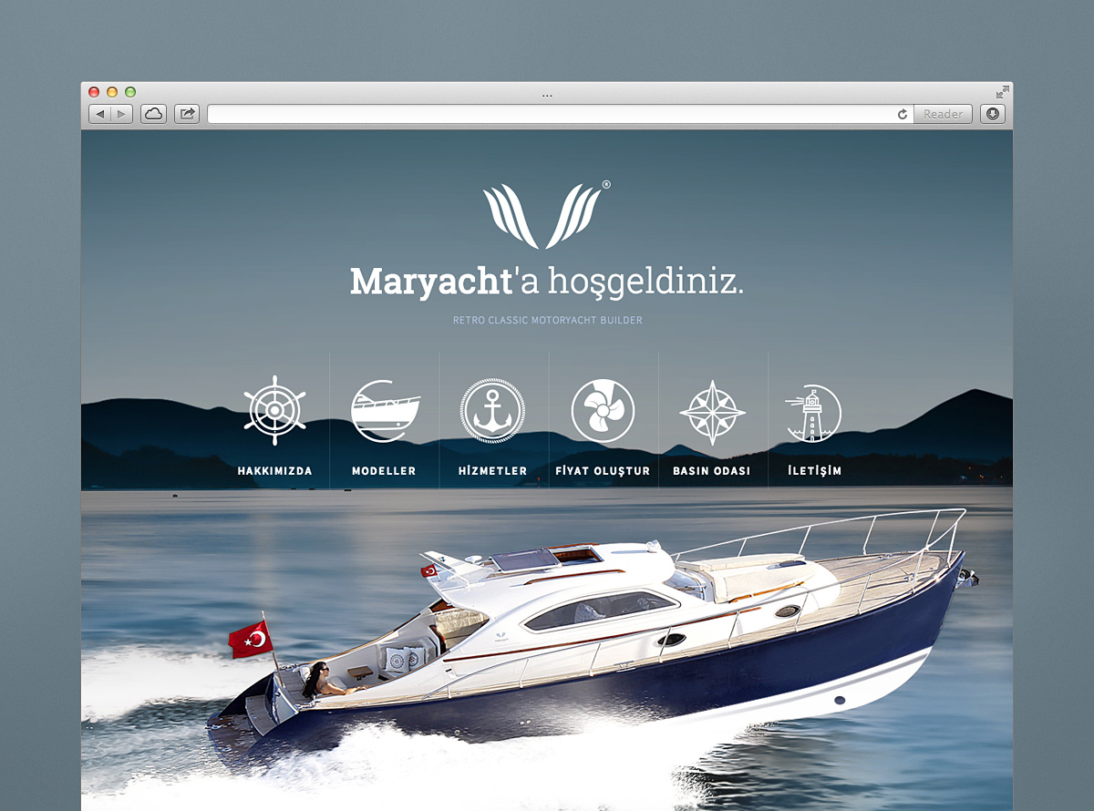 Mobile Friendly Web Site Design for Maryacht