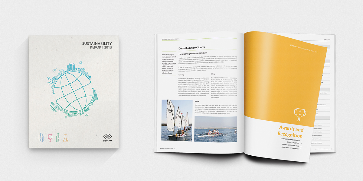 Sisecam, 2013 Sustainability Report Design